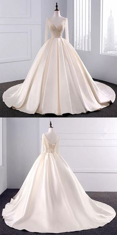 bling bling sequins beaded ball gowns champagne wedding dresses with 3/4 sleeves