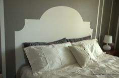 Don't look now, but you could have a new, custom headboard in the time it would take you to drive to IKEA. How? With paint! Click through to get inspired and then get going.