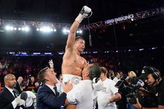 Watch Gennady Golovkin vs David Lemieux full fight video highlights online (ESPN) from last night (Oct., featuring the fight-finishing technical knockout sequence that came in round eight. David Lemieux, Gennady Golovkin, Boxing Live, Espn, Victorious, Highlights, Crushes, Nyc, Concert