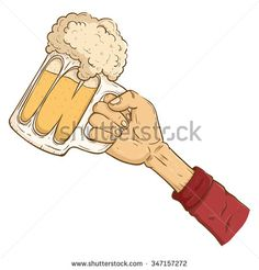 Hand Holding A Glass Of Cold Beer With Full Foam