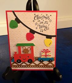 Christmas in July!  Made using Create a Critter Cricut cartridge.