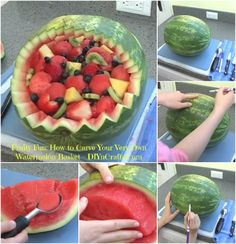 Fruity Fun: How to Carve Your Very Own Watermelon Basket...