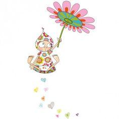Ce sticker l'envol de Violette de la marque Série-Golo apporte un décor ludique et coloré à la chambre d'un enfant. Cute Cartoon Drawings, School Murals, Arte Country, Simple Cartoon, Envelope Art, Baby Room Design, Wall Drawing, Painting Lessons, Fairy Art