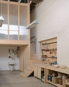 Interior Architecture, Interior Design, Dream Studio, Workshop, Loft, House Design, Furniture, Behance, Workspaces
