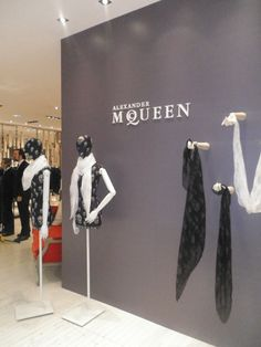 scarf display | ... Penny Dreadful: Alexander McQueen scarf display at Brown Thomas Dublin