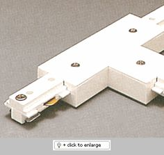 """TR2132 Two Circuit """"T"""" Connector with Power Feed   Item# TR2132  Regular price: $30.00  Sale price: $21.90 Track Lighting Fixtures, Commercial Lighting, Lighting Design, Circuit, Connect, Lights, Accessories, Light Design, Lighting"""