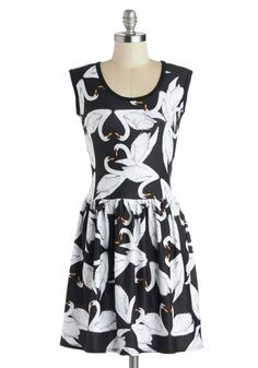 My Kinda Gallop Dress in Swans. Today, youve made your annual return to the countryside. #blackNaN