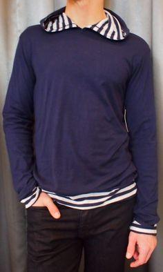 Velvet hooded sweater $115 from Gotstyle Menswear.