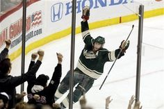 02/19/12: Yes! Power play goal! - Matt Cullen, good to see you - Back to your old tricks. (Minnesota beats Boston 2-0)