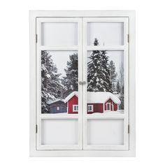 Quadro bianco in legno con finestra 57 x 79 cm CHALET