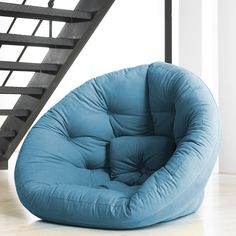 futon/chair  Nest Large Blue-i want this in green!!!!!!!!! its muh favorite color :3