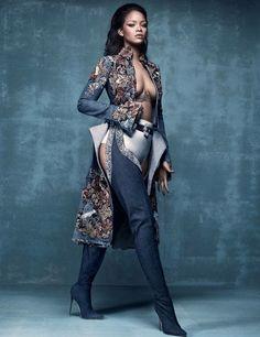 Rihanna Ok. Most people would wear a top but it's Rihanna.