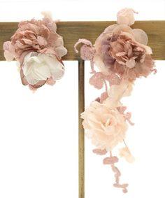 Yam pizzo e fiore orecchini m.soeur (Emusuru) (Pierce (per entrambe le orecchie)) | Rosa