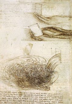 Studies of Water passing Obstacles and falling (c. 1508 - 1509) is a drawing by Leonardo da Vinci.