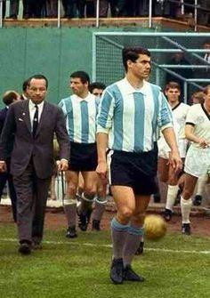 Rafael Albrecht of Argentina comes out to face West Germany at the 1966 World Cup Finals.