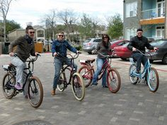 Happy people on Pedego Electric Bikes at Rocket Electrics Austin! #ebike