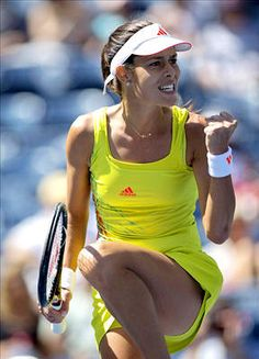 Pumped up kicks Former world No. 1 Ana Ivanovic celebrates her 6-2, 6-2 second-round win over Sweden's Sofia Arvidsson. She'll play American Sloane Stephens next.