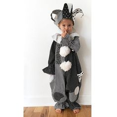 Toddler 3T Jester or Clown Costume, Black and White