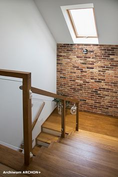 Loft Stairs, House Stairs, Living Room Wall Designs, Home Stairs Design, Bungalow House Design, Brick Patterns, Design Case, Interior Design, Home Decor
