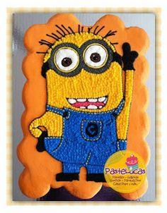 PasteLucas: Minion cupcake cake