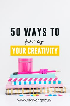 Have an itch to create something but have no ideas? Read these 50 easy ways to spark up your Creativity! Click to read or pin to save for later.