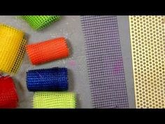 DIY colored mesh for cards scrapbooks and art journals - YouTube