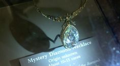 Mystery Diamond Necklace shown at the Smithsonian Museum of Natural History, Washington D.C.