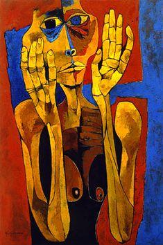 Meditacion II, Oswaldo Guayasamin, 1994.
