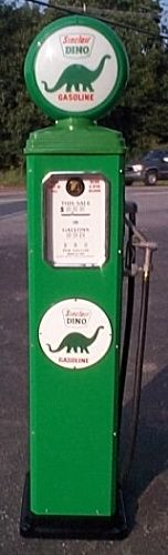 Reproduction gas pump -  esp. dinosaur/Sinclair - with light up top (think nightlight!)