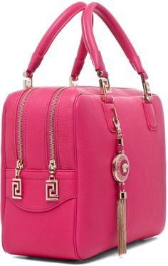 Versace pink, tech, laptop