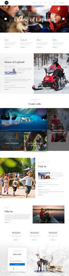 Fully responsive modern Web Design for Finnish government agency in Northern Finland! Modern Web Design, Ux Design, Front End Design, Government Website, Responsive Layout, Website Designs, Web Layout, Portfolio Website, Web Design Inspiration