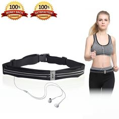 Running Belt, Zdatt Waterproof Outdoor Sports Runner Fanny Waist Pack for Women Men Kids with Reflective, Earphone Port for Hiking Cycling Fitness Exercise Compatible with Money, Cell Phone, Keys Etc