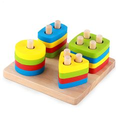 Wooden Geometric Blocks //Price: $20.99 & FREE Shipping //     #woodenaccessories
