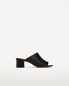 LEATHER MULES - Available in more colours