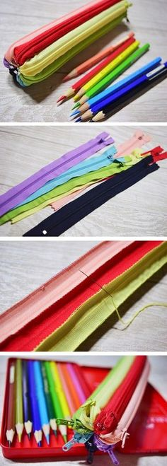 How to Make Zippers Zencil Case. DIY Step-by-Step Tutorial Instruction. http://www.handmadiya.com/2015/10/zipper-pencil-case-tutorial.html