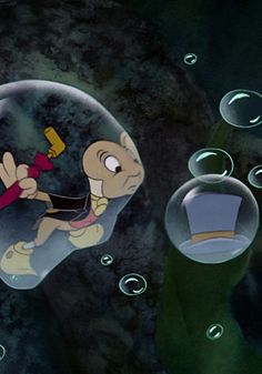 Jiminy Cricket (makes me think of Fantasmic! Disney Movie Scenes, Disney Animated Films, Disney Movies, Disney Pixar, Disney Characters, Pinocchio Disney, Disney Princesses, Walt Disney Co, Disney Boys