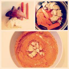 Sweet Potato & Cauliflower puree