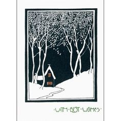 House in the Snow Pack of 10 Christmas Cards (Large Rectangle)||RNWIT
