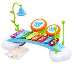Rainbow Xylophone Piano Bridge for Kids with Ringing Bell and Drums Musical Toy http://www.amazon.com/dp/B00GUR9EDG/ref=cm_sw_r_pi_dp_q154tb0CXKZN2