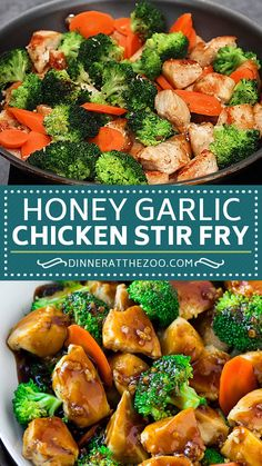 Honey garlic chicken stir fry with broccoli and carrots is a healthy dinner choice. recipes for two recipes fry recipes Honey garlic chicken stir fry with broccoli and carrots is a healthy dinner choice. recipes for two recipes fry recipes Healthy Dinner Recipes For Weight Loss, Easy Healthy Recipes, Easy Dinner Recipes, Healthy Snacks, Healthy Stir Fry, Healthy Supper Ideas, Healthy Weeknight Dinners, Healthy Dinner With Chicken, Healthy Recipes For Dinner