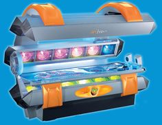 Soltron Kiwi King features stereo sound system w/ MP3 player connection & SD card slot #tanning