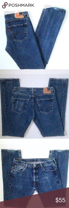 fd6061bd8eb Levi s 501 Tall Distressed Vintage Jeans 34x36 Vintage Levi s Tall 501  Button Fly Jeans. Size