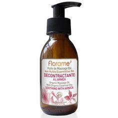 Florame - Huile de massage décontractante à l'arnica bio - 120 ml Jojoba, Home Remedies, Soap, Organic, Personal Care, Beauty, Products, Massage Oil, Beauty Products