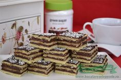 Prajitura cu crema de cacao-de post Vegan Dessert Recipes, Cereal, Pancakes, Food And Drink, Sweets, Breakfast, Foods, Morning Coffee, Food Food