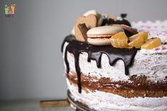 открытый торт макаруны