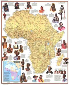 "Ethnolinguistic Map of the Peoples of Africa. Published in Dec 1971 with the article ""The Zulus: Black Nation in a Land of Apartheid,"" this map is a supplement to the ""Heritage of Africa"" map printed in the same issue. Black History Facts, Black History Month, Strange History, African Culture, African American History, British History, Afrique Francophone, National Geographic Maps, Africa People"