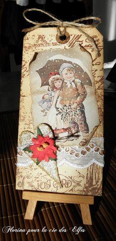 Cartes et tags Noël avec la cie des Elfes - A FOND DANS LES TAMPONS