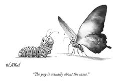 A Butterfly Talks To A Caterpillar Drawing by Will McPhail Cartoon Photo, A Cartoon, Animal Drawings, Art Drawings, Butterfly Sketch, New Yorker Cartoons, Comic Panels, The New Yorker, Caterpillar