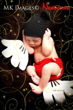 Disney Mickey Mouse newborn photoshoot