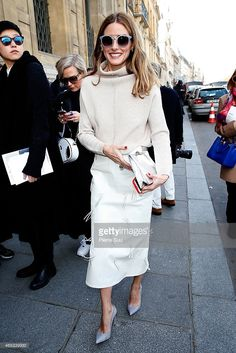 Olivia Palermo attends the Chalayan show as part of the Paris Fashion... News Photo | Getty Images